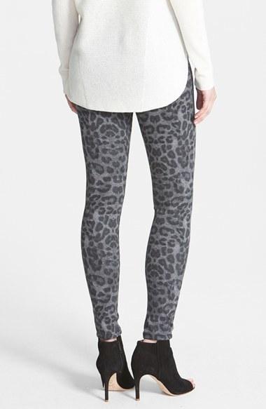 Hue Leopard Print Denim Leggings