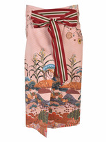 Stella Jean Numerosa Japanese Print Pencil Skirt