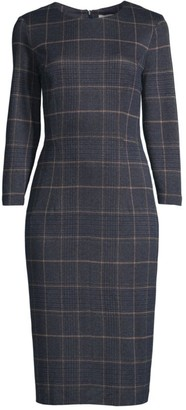 Peserico Fitted Check Plaid Dress