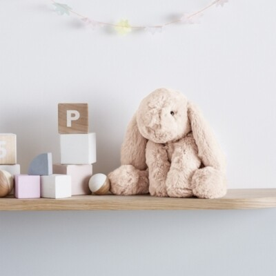The White Company Jellycat Medium Smudge Bunny Toy, Natural, One Size