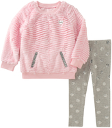 Juicy Couture Tiered Faux Fur Top & Leggings Set