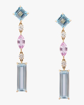 Yi Collection Topaz, Diamond And Sapphire Earrings