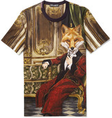 Dolce & Gabbana Fox Printed Cotton-jersey T-shirt - Multi