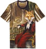 Dolce & Gabbana Fox Printed Cotton-jersey T-shirt