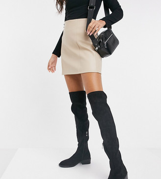 Raid Wide Fit Tamara over-the-knee boots in black