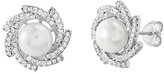 Bliss Pearl & Cubic Zirconia Floral Stud Earrings
