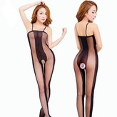 ABC Women's Bodystockings, Women's Sexy Backless lingerie Open Crotch Bodystockings Bodysuits Underwear Sleepwear Dress Clothing