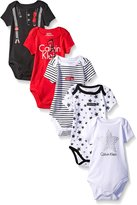 Calvin Klein Baby Boys' 5 Pack Assorted Bodysuits