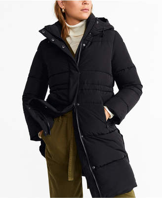 MANGO Hooded Quilted Coat