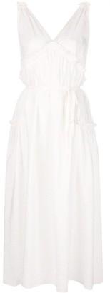Isa Arfen flared V-neck dress