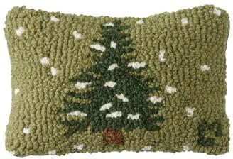 "L.L. Bean Wool Hooked Throw Pillow, Flurries, 8"" x 12"""