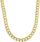 JCPenney FINE JEWELRY Infinite Gold Mens 14K Yellow Gold 22 Hollow Curb Chain Necklace