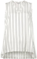 Brunello Cucinelli striped V-neck tank