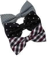 DBE0149 Best For Designer Microfiber Marriage Pre-Tied Bowties 3 Pack Bow Tie Set By Dan Smith