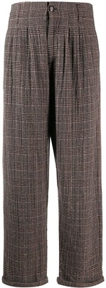 YMC Loose Fit Plaid Trousers