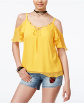 SHIFT Juniors' Cold-Shoulder Top, Only at Macy's
