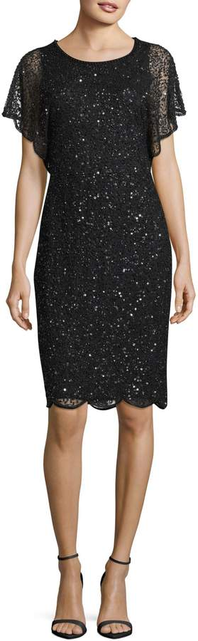 Adrianna Papell Sequined Shift Dress