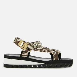 Kurt Geiger Women's Orion Flat Sandals - Grey Mixed