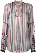 No.21 sheer striped blouse - women - Silk - 42