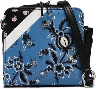 3.1 Phillip Lim Embellished Floral-print Leather Shoulder Bag