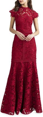Shoshanna Carlotta Floral Lace Gown