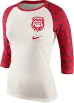 Nike Women's Georgia Bulldogs Triblend Veer Raglan T-Shirt