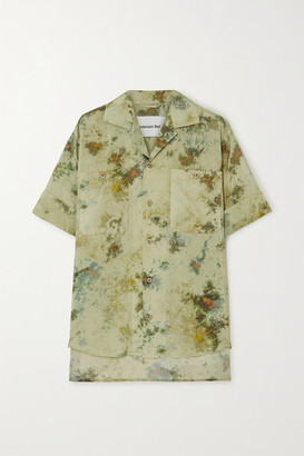 ANDERSSON BELL Tie-dyed Crepe Shirt - Army green