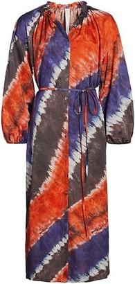 Raquel Allegra Tie-Dye Wrap Dress