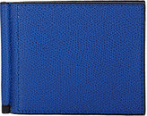 Valextra Men's Money Clip Bifold Wallet-BLUE