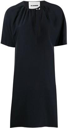 Jil Sander Tie-Neck Short Dress