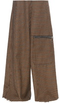 Marques Almeida MARQUES'ALMEIDA Wide-leg hound's-tooth wool trousers