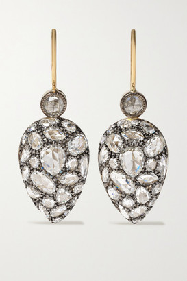Fred Leighton Collection Silver-topped 18-karat Gold Diamond Earrings