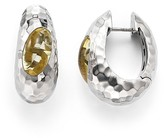 Roberto Coin Sterling Silver Capri Plus Hoop Earrings with Lemon Quartz