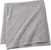 Sofia Cashmere Angel Cable Knit Baby Throw - Grey