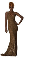 Theia 881743 Gilded Shimmering Sequined Evening Dress