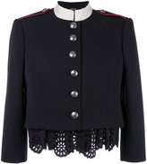 Alexander McQueen Military lace insert jacket - women - Cotton/Polyester/Cupro/Virgin Wool - 42