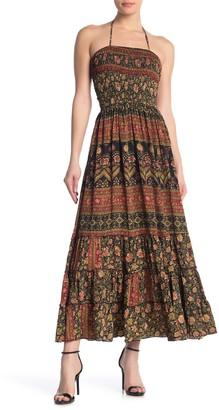 Raga Wild Rose Trails Halter Smocked Maxi Dress