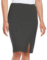 Andrew Marc Pinstriped Pencil Skirt