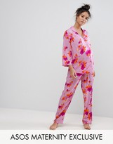 Asos Bright Floral Shirt & Pajama Set