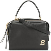 Bally letter plaque structured tote - women - Calf Leather - One Size