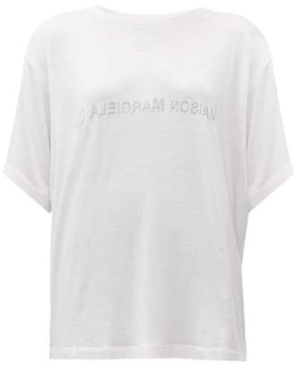 MM6 MAISON MARGIELA Reverse-face Logo-print T-shirt - Womens - White