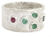 Women's Franny E Jewelry Emerald & Ruby Ring