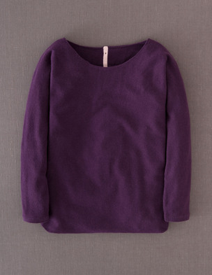 Boden Cashmere Button Back Sweater