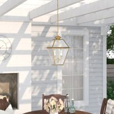 Three Posts Bevin 2-Light Outdoor Hanging Lantern Fixture Finish: Polished Brass