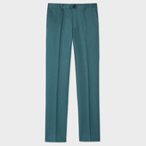 Paul Smith Men's Slim-Fit Dark Green Cotton-Linen Blend Chinos