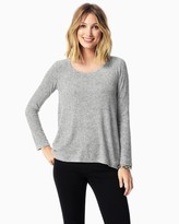 Charming charlie Plush Twisted Open Back Sweater