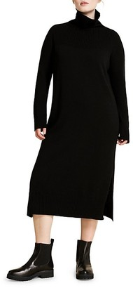 Marina Rinaldi, Plus Size Marina Sport Galena Wool & Cashmere-Blend Turtleneck Sweater Dress