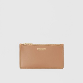 Burberry Leather Zip Card Case