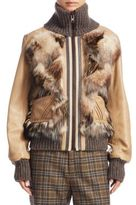Marc Jacobs Multi Pieced Fur & Leather Jacket