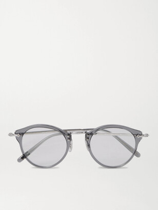 Oliver Peoples Op-505 Round-Frame Acetate And Silver-Tone Optical Glasses